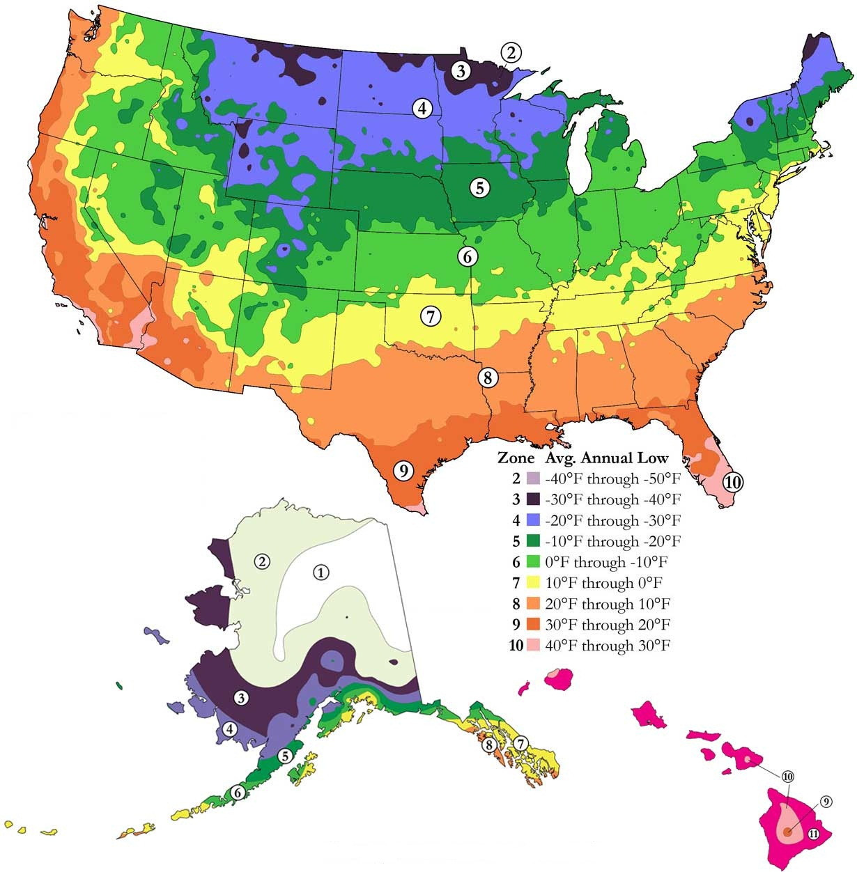 Plant Hardiness Zone Map ALDRIDGE LAWN AND LANDSCAPE - Zone map of usa